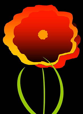 Art Print featuring the digital art Flower by Gayle  Thomas
