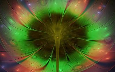 Faries Digital Art - Flower Gazing by Rhonda Barrett