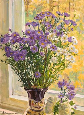 Flower Bouquet Painting - Flower Gentleman by Victoria Kharchenko