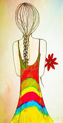 Flower Girl Art Print by Anne Costello
