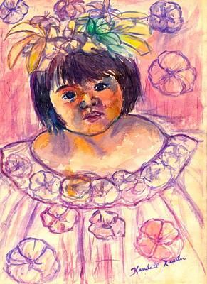 Flower Girl Art Print by Kendall Kessler