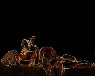Flower Girl Man Ray Homage Art Print by Brian King