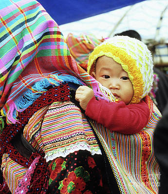Photograph - Flower Hmong Baby 04 by Rick Piper Photography