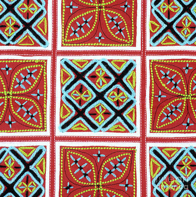 Photograph - Flower Hmong Embroidery 01 by Rick Piper Photography