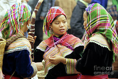 Hmong Photograph - Flower Hmong Women by Rick Piper Photography