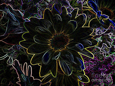 Photograph - Flower In Fireworks by Luther Fine Art