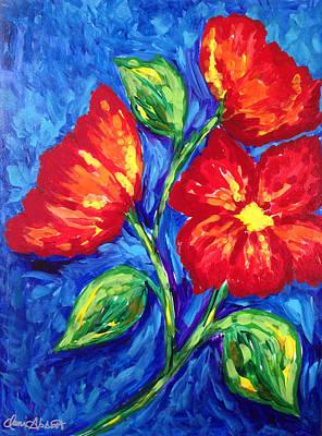Flower In Red Original by Dani Abbott