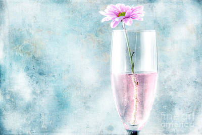 Flower In The Drink Art Print