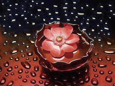 Digital Art - Flower In Water by Mitchell Gibson