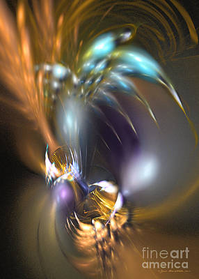 Digital Art - Flower In Your Dreams - Abstract Art by Sipo Liimatainen