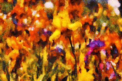 Irises Digital Art - Flower - Iris - Orchestra by Mike Savad