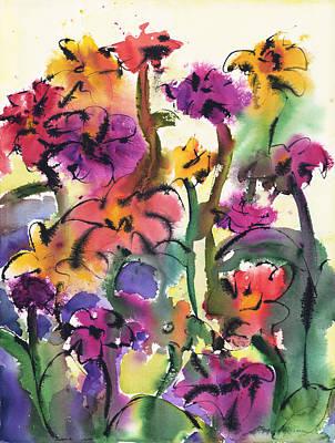 Flower Jam Art Print by Amy Chrisman