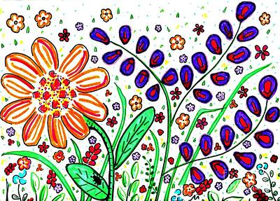 Joyful Drawing - Flower Joy by Sarah Loft