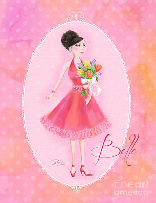 Mixed Media - Flower Ladies-belle by Shari Warren