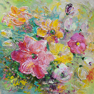 File Painting - Flower Love by Miki De Goodaboom