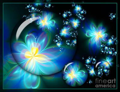 Digital Art - Flower Marble Fractal by Lena Auxier