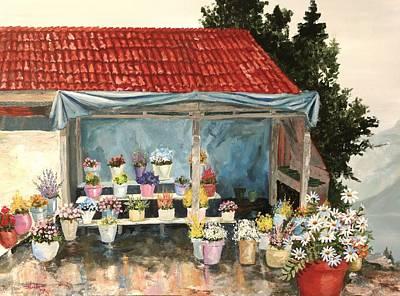 Flower Market Original by Alan Lakin