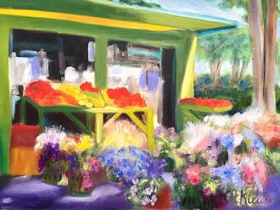 Painting - Flower Market by Joanne Killian