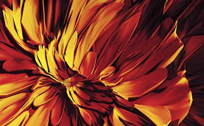 Art Print featuring the digital art Flower by Matt Lindley