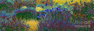 Digital Art - Flower Medow Solarisation by Rudi Prott