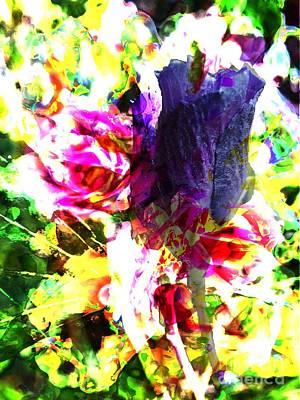 Mess Mixed Media - Flower Mess by Dana Hermanova
