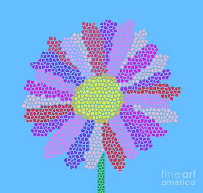 Guns Arms And Weapons - Flower Mosaic by L Bee