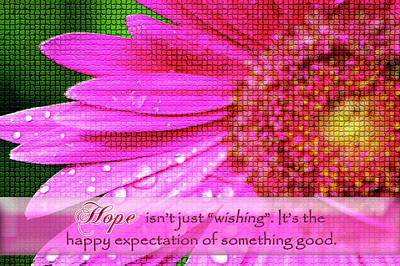 Digital Art - Flower Of Hope by Carolyn Marshall