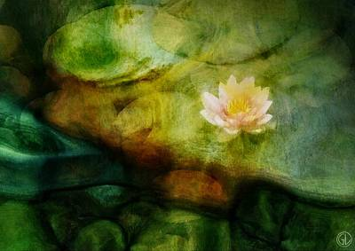 Waterlilies Digital Art - Flower Of Hope by Gun Legler