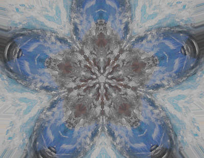 Drifting Snow Digital Art - Flower Of Life by Erica  Darknell