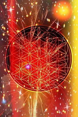Digital Art - Flower Of Life  by Karen Buford