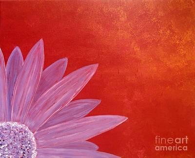 Flower On Metallic Background Art Print