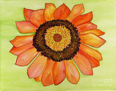 Flower Orange Art Print