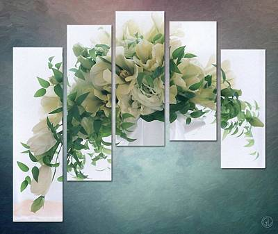 Flower Panels Art Print by Gun Legler
