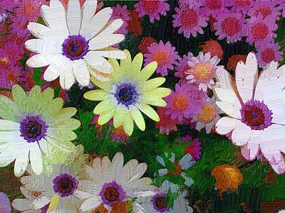 Art Print featuring the photograph Flower Patch by Diane Miller