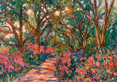 Wildflowers Painting - Flower Path by Kendall Kessler