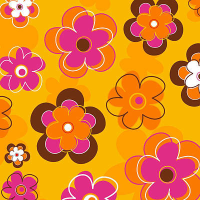 Police Car Painting - Flower Pattern 2 by Esteban Studio