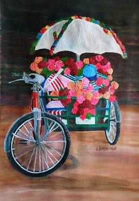 Painting - Flower Peddler by Christy Saunders Church