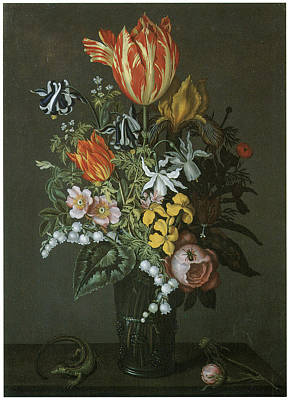 Lily Of The Valley Painting - Flower Piece by Johannes Bosschaert