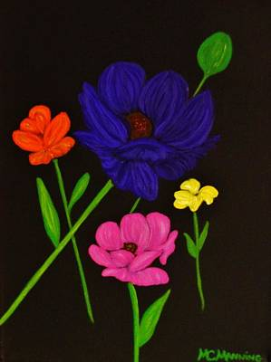 Painting - Flower Play by Celeste Manning