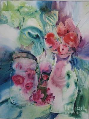 Painting - Flower Pot by Donna Acheson-Juillet