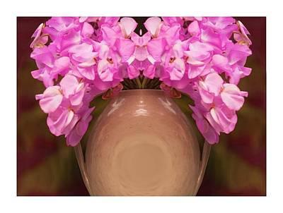 Flower Pot Iv Art Print by Ck Gandhi