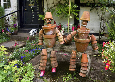Photograph - Flower Pot People by Shirley Mitchell