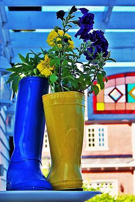 Photograph - Flower Pots... by Al Fritz