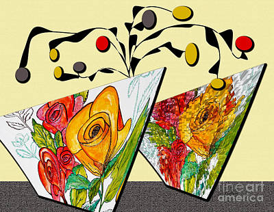 Painting - Flower Pots by Iris Gelbart