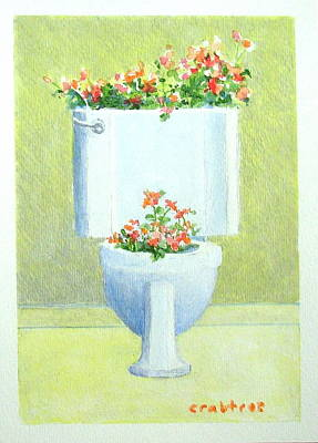 Painting - Flower Potty by Elizabeth Crabtree