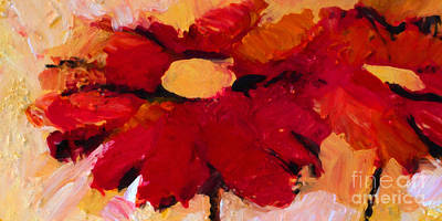 Flower Power Painting - Flower Pow by Lutz Baar