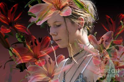 Flower Power Original by Angelika Drake