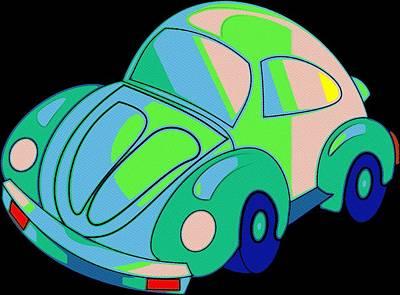 Painting - Flower Power Beetle by Florian Rodarte