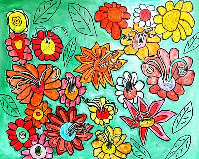 Flower Power Original by Artists With Autism Inc