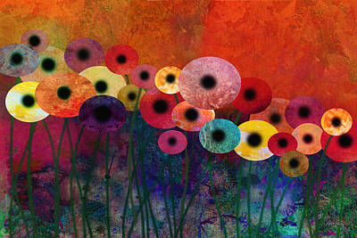 Digital Art - Flower Power Five Abstract Art by Ann Powell